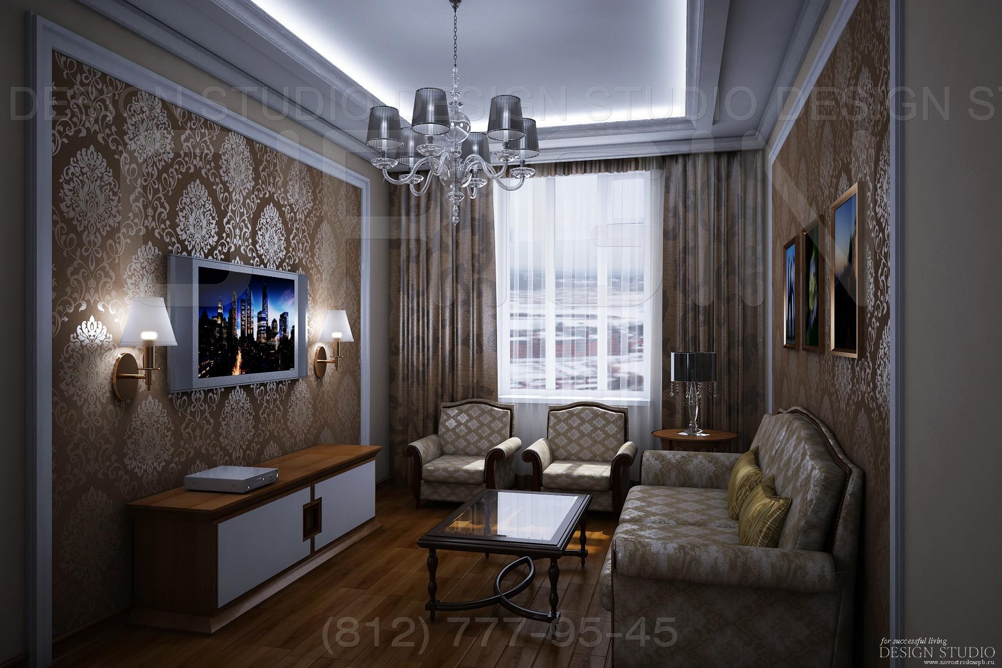 Notranjost dvosobnega apartmaja 65 m2