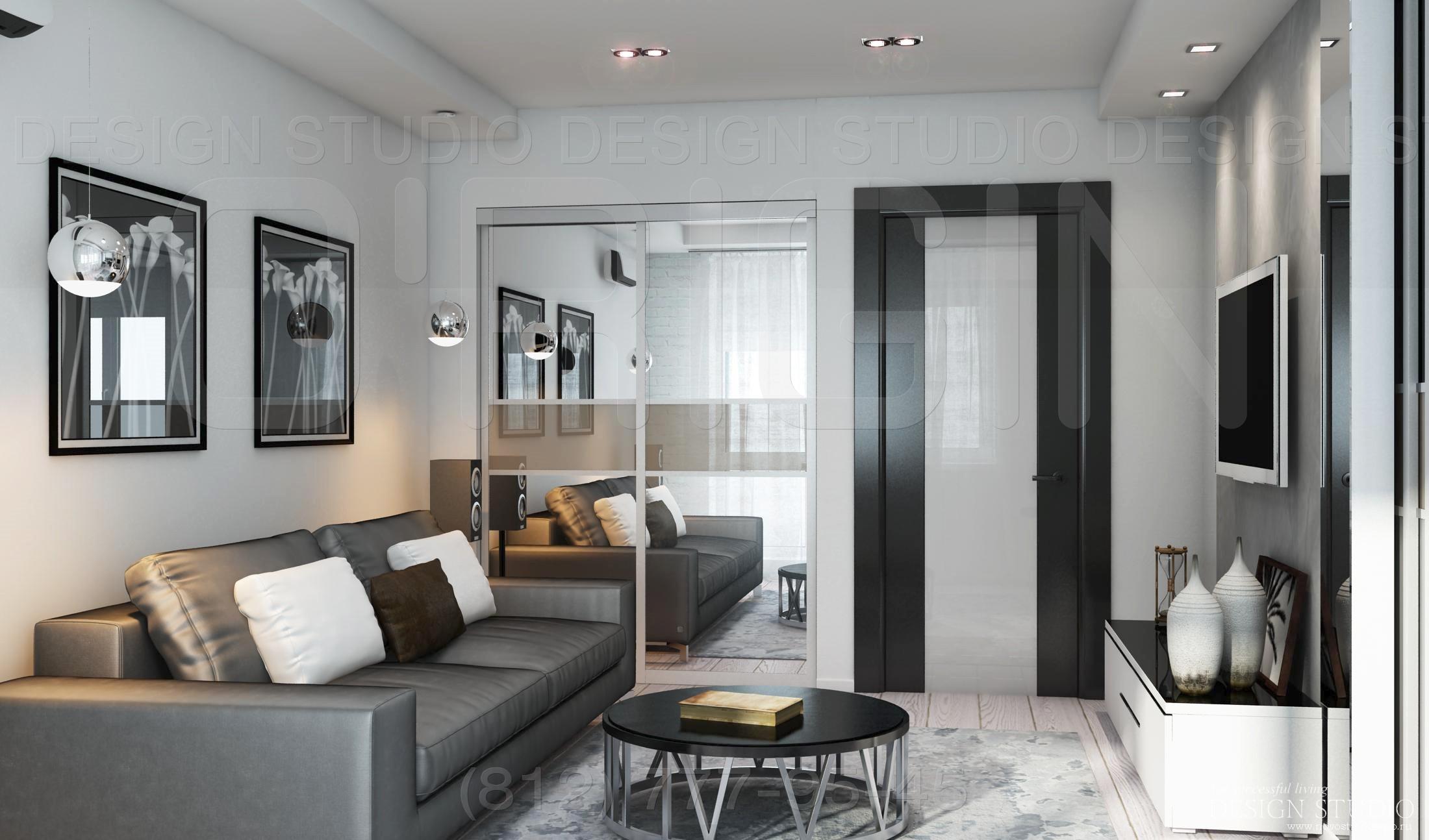 Дизайн двухкомнатных квартир. фото