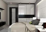 Дизайн двухкомнатной квартиры Богатырский проспект дом 7 (Спальня)