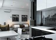 Дизайн двухкомнатной квартиры Богатырский проспект дом 7 (Кухня)