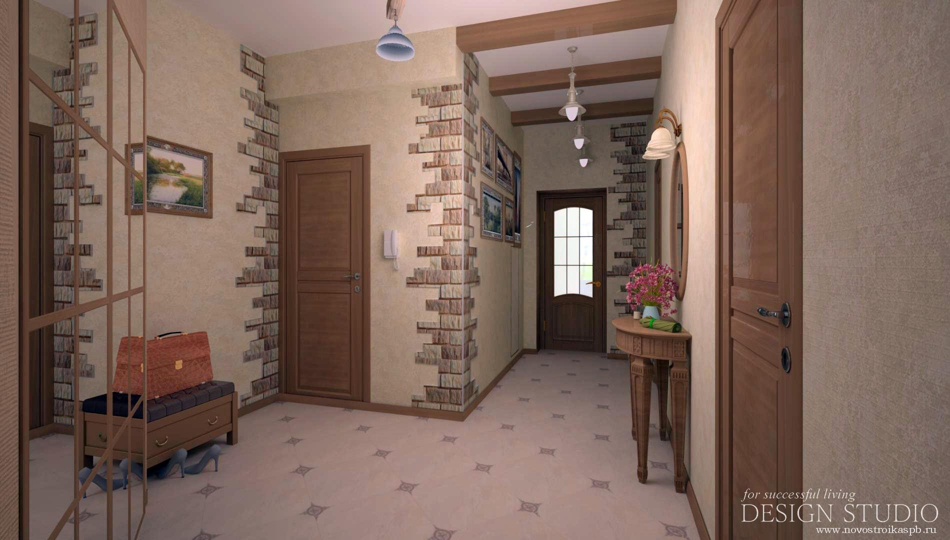 Дизайн коридора двухкомнатной квартире 107