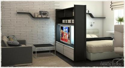 Дизайн однокомнатной квартиры_2