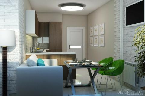 Дизайн однокомнатной квартиры_6