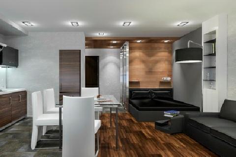 Дизайн однокомнатной квартиры_9