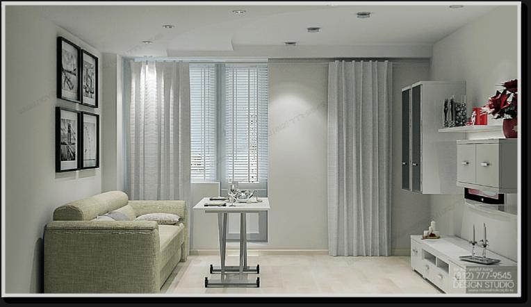 Дизайн интерьера однокомнатной квартиры 47 м.кв.