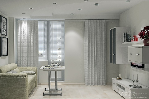 Дизайн однокомнатной квартиры_8