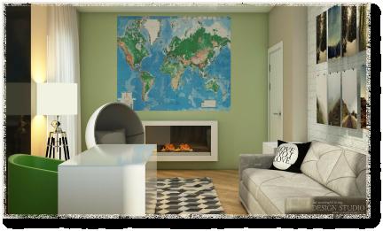 Дизайн трёхкомнатной квартиры_5