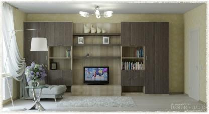 Дизайн однокомнатной квартиры_1