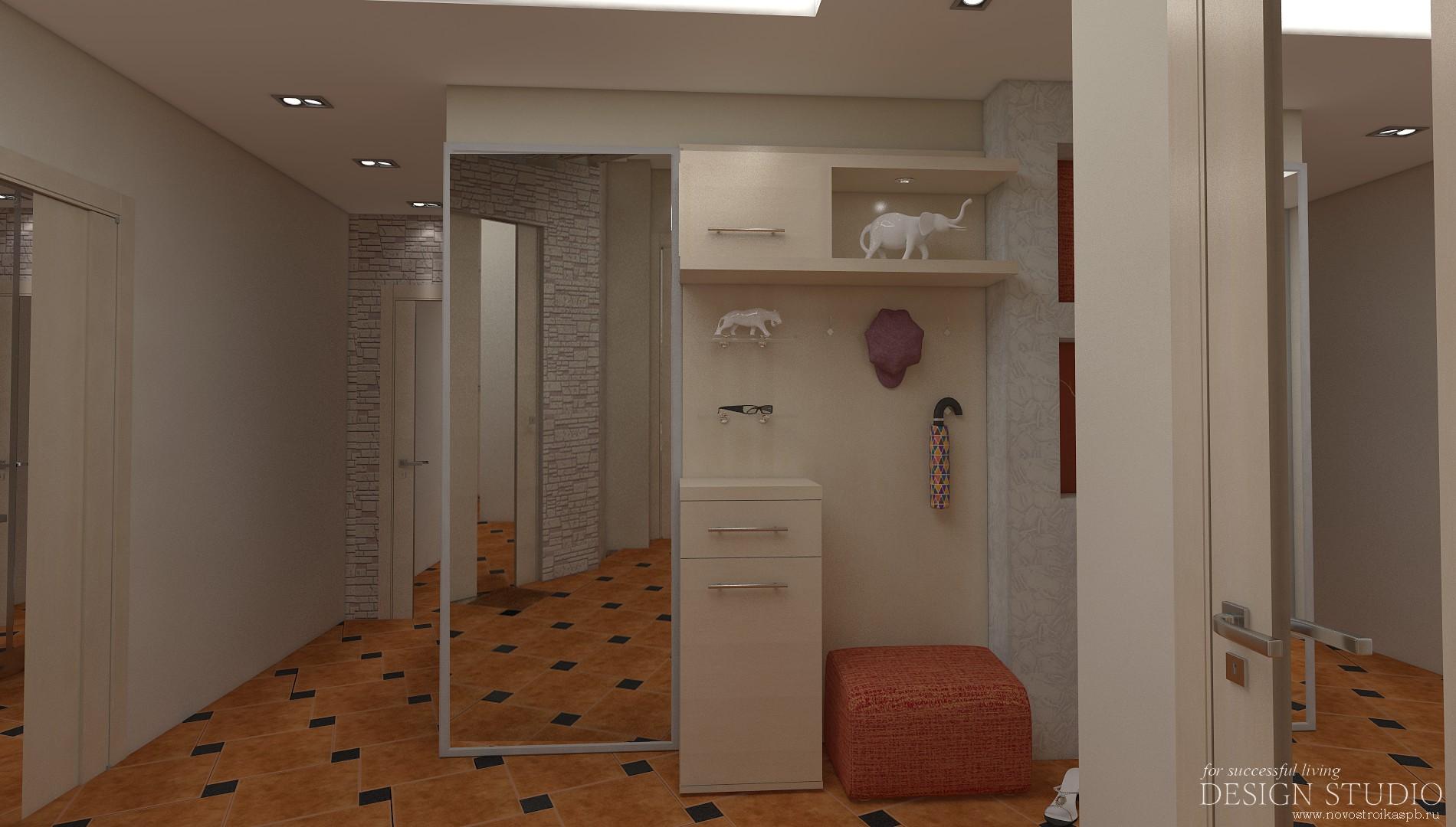 Дизайн коридора двухкомнатной квартире 145